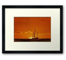 Waiting For The Green Flash Framed Print