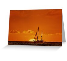 Waiting For The Green Flash Greeting Card