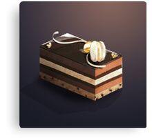 Dessert Doodle #01 Chocolate cake Canvas Print