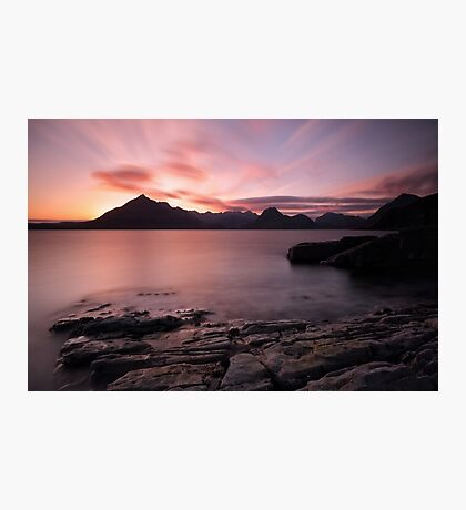 Elgol Colourful Sunset Photographic Print