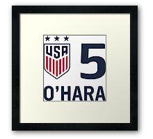 USWNT O'Hara Framed Print