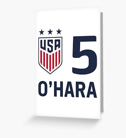 USWNT O'Hara Greeting Card