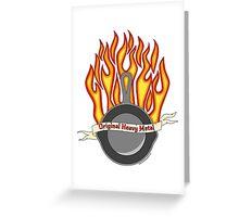 Cast Iron Pan- tattoo style Greeting Card