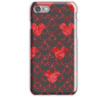 Mouse Ears Watercolor in Red iPhone Case/Skin