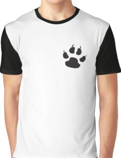 DOG, CAT, PAW, PADS, CLAWS, feline, Cats Paw, Catspaw, Dog Paw, Dog, Pet, foot, track, scratch, BLACK Graphic T-Shirt