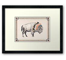 White Bison Framed Print