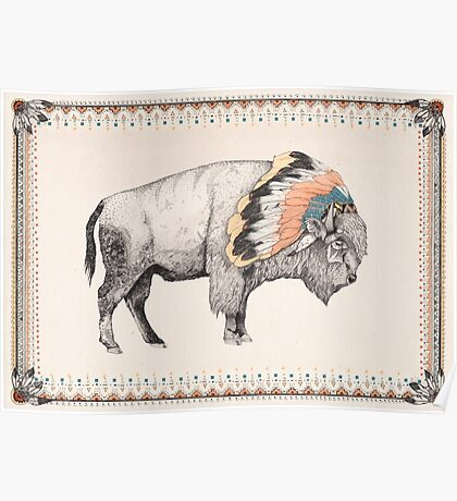 White Bison Poster