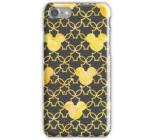 Mouse Ears Watercolor in Yellow iPhone Case/Skin