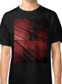 Line Art - The Scratch, red Classic T-Shirt