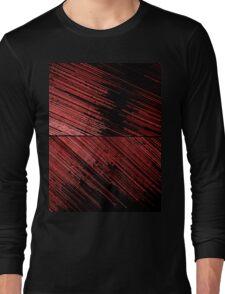 Line Art - The Scratch, red Long Sleeve T-Shirt