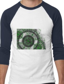 Abstract mechanical fractal Men's Baseball ¾ T-Shirt