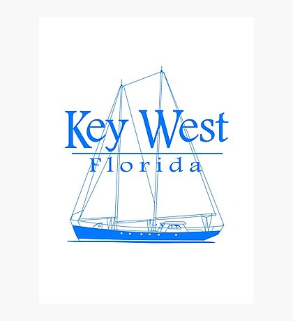Blue Key West Sailing Photographic Print