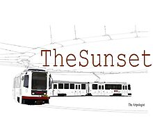 Muni Train in the Sunset Photographic Print