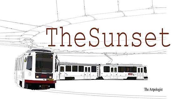 Muni Train in the Sunset by Daniel Gallegos