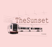 Muni Train in the Sunset One Piece - Long Sleeve