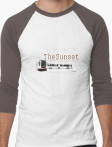 Muni Train in the Sunset Men's Baseball ¾ T-Shirt