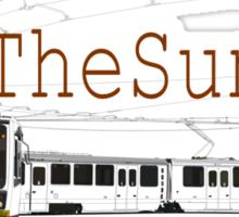 Muni Train in the Sunset Sticker