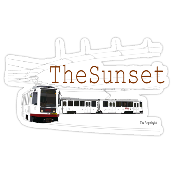 Muni Train in the Sunset by Daniel Gallegos