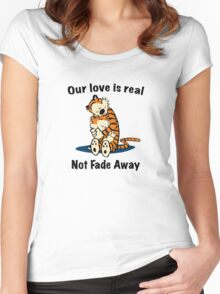 Not Fade Away! Women's Fitted Scoop T-Shirt