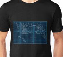 0075 Railroad Maps Rocky Mountains to Puget Sound from explorations and Inverted Unisex T-Shirt