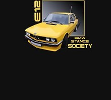 BMW E12 Stance Yellow Unisex T-Shirt