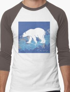 Endangered Polar Bear Men's Baseball ¾ T-Shirt