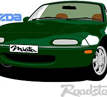 Mazda Miata green by car2oonz