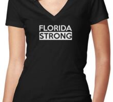 Florida Strong Women's Fitted V-Neck T-Shirt