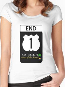 Key West Highway 1 Women's Fitted Scoop T-Shirt