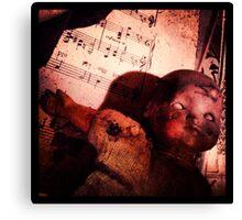 Creepy vintage doll  Canvas Print