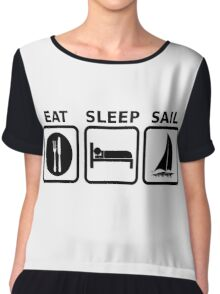 Eat Sleep Sail Chiffon Top