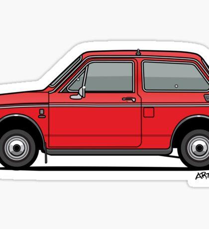 Honda N600 Red Kei Car Sticker