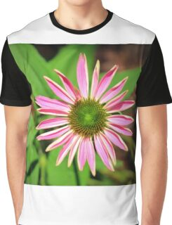 Pink And Green Zinnia Graphic T-Shirt
