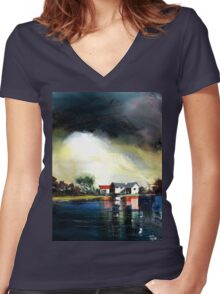 Transience Women's Fitted V-Neck T-Shirt