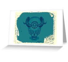 Sigill Blue Greeting Card