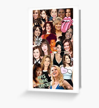 The Women of SNL collage Greeting Card