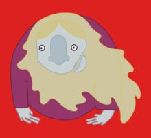 Blond Hairy Ghost Baby Tee