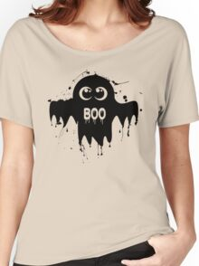 Cute Ghost - Halloween Vector Women's Relaxed Fit T-Shirt