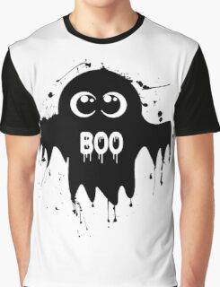 Cute Ghost - Halloween Vector Graphic T-Shirt