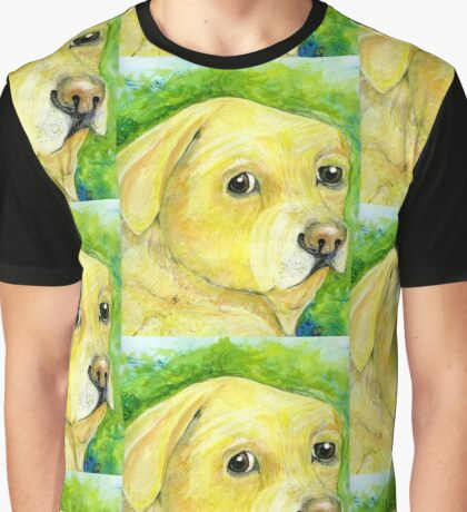 Old Yellow Labrador Graphic T-Shirt