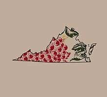 Vintage Virginia Wine Design (Colored Leaves) by canossagraphics
