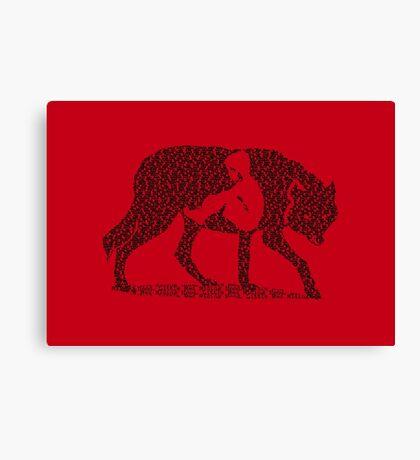 Hungry Like The Wolf Canvas Print