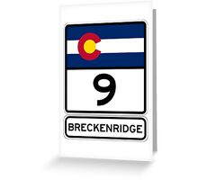 CO-9 Breckenridge Colorado Greeting Card