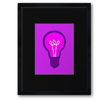 Violet Light Bulb Framed Print
