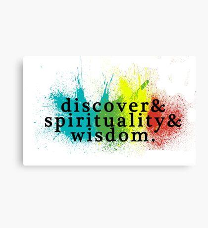 discover spirituality wisdom Canvas Print