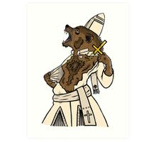 Pope Werewolf IV Art Print