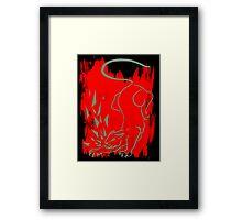 Cougar on Black Framed Print