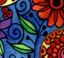 Abstract Colorful Flowers Sticker