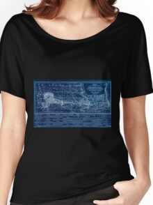 0284 Railroad Maps Map showing location of lands belonging to the Iowa Rail Road Land Company Iowa Falls and Sioux City R R Land Company Sioux City and Pacific Land Company Inverted Women's Relaxed Fit T-Shirt