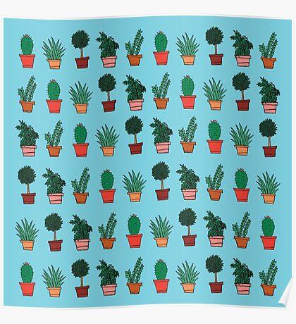 Plant Doodles Poster